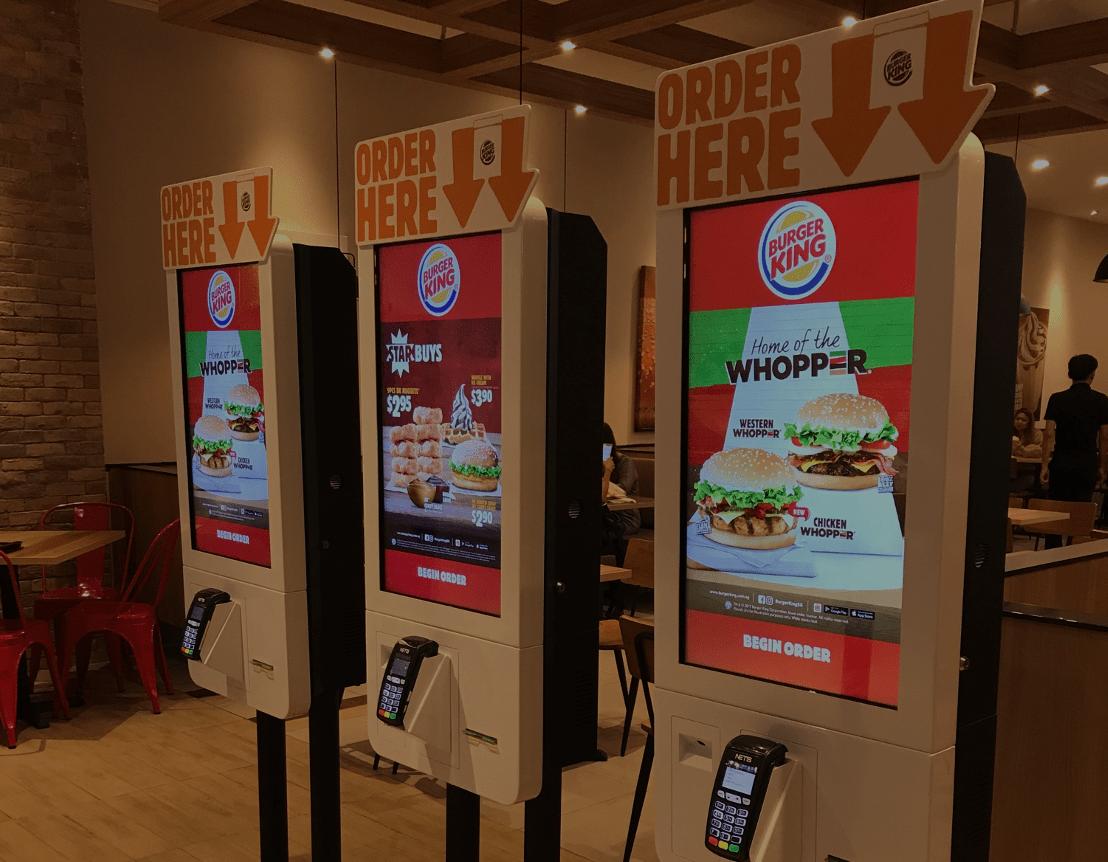 Kiosks in burger king